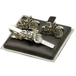 Motorbike Cufflinks & Tie Bar Gift Set