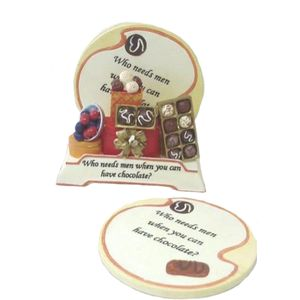 Wise Words Coaster Set - Who Needs Men When You Can Have Chocolate