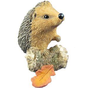 Country Artists Sherratt & Simpson Figurine - Hedgehog Climbing Log & Leaves