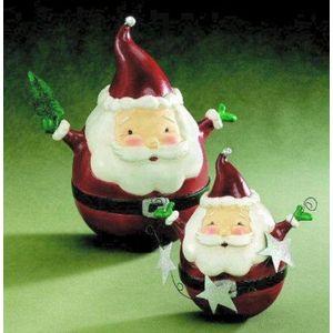 Roly Poly Santa Christmas Figurine