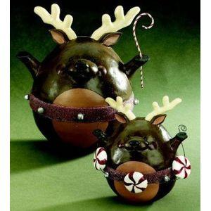 Roly Poly Reindeer Christmas Figurine