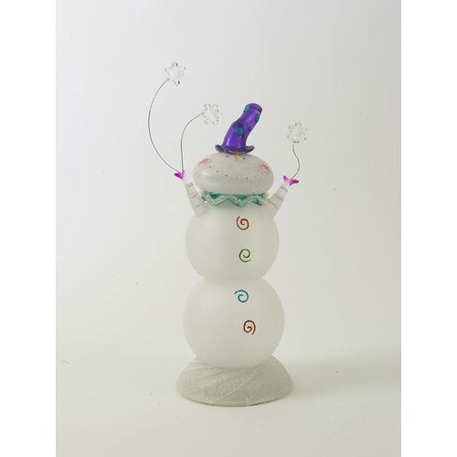 Christmas Light Up Snowman Decoration Ref 78265