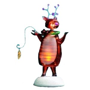 Bobble Reindeer Light Up Festive Decoration