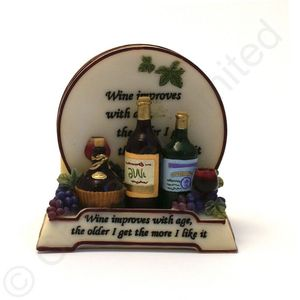 Wise Words - Coaster Set - Wine Improves with Age