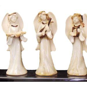 Christmas Decoration - Angel Ceramic Figurine Set