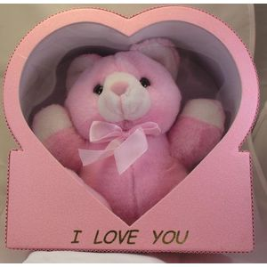 I Love You Pink Bear in Heart Gift Box