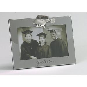 "Shudehill Two Tone Silver Plated Photo Frame 6"" x 4"" - Graduation"