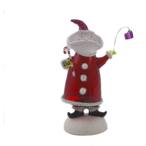 Seasons of Cannon Falls Bobble Santa On Snow Ornament