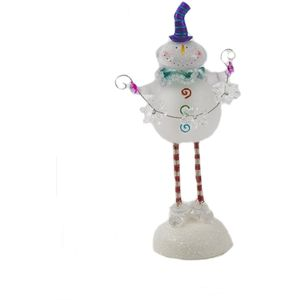 Seasons of Cannon Falls Light Up Festive Decoration - Springy Snowman