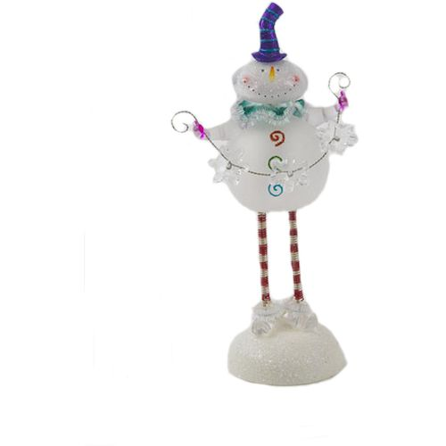 Christmas Light Up Snowman With Springy Legs Ornament Ref 782712