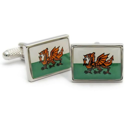 Welsh Dragon Flag Cufflinks