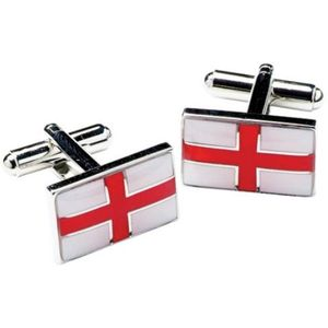 England St George Cross Flag Cufflinks