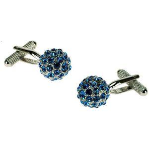 Swarovski Crystal Blue Globe Cufflinks