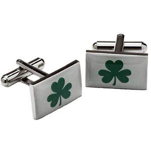 Lucky Shamrock Irish Cufflinks