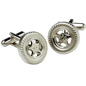 Car Wheel & Tyre Cufflinks