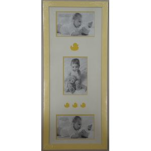 Baby Multi Photo Frame - Pastel Lemon