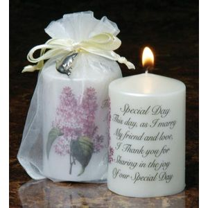 Sentiment Wedding Favour Candle - Special Day