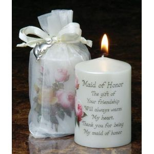 Sentiment Wedding Favour Candle - Maid of Honour
