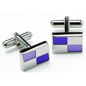 Purple & Silver Dress Cufflinks