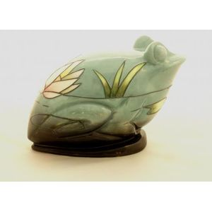 Inspirations Water Lily Frog Figurine