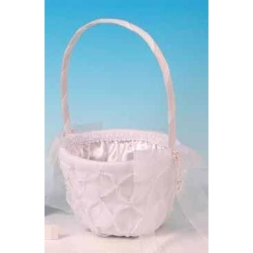 White Cherish Bridesmaid Basket