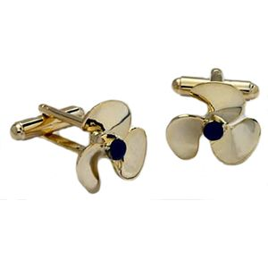 Propeller Cufflinks - Gold Finish