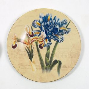 Bohemia China Wall Plate- Blue Iris
