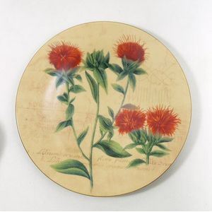 Bohemia China Wall Plate-Red Bee Balm