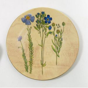 Bohemia China Wall Plate-Blue Loddon Royalist