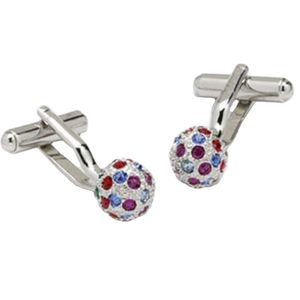 Multi Coloured Swarovski Crystal Globe Cufflinks