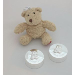 1st Tooth & Curl Gift Set Silver plated with Teddy