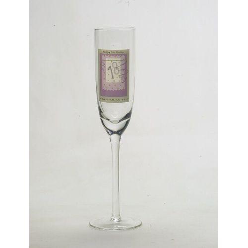 18th Happy Birthday Glass Flute