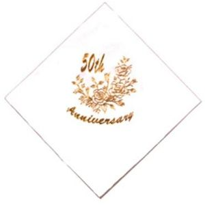 50th Golden Anniversary Napkins x15