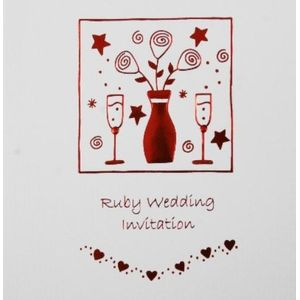 40th Ruby Anniversary Invitations
