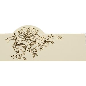 Place Cards - Ivory with Gold Bells Design x12