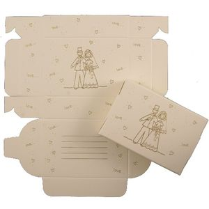Cake Boxes - Gold Bride & Groom Design x8
