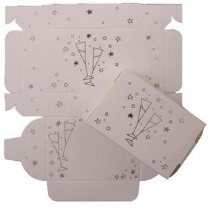 Cake Boxes - Silver Glasses design x8