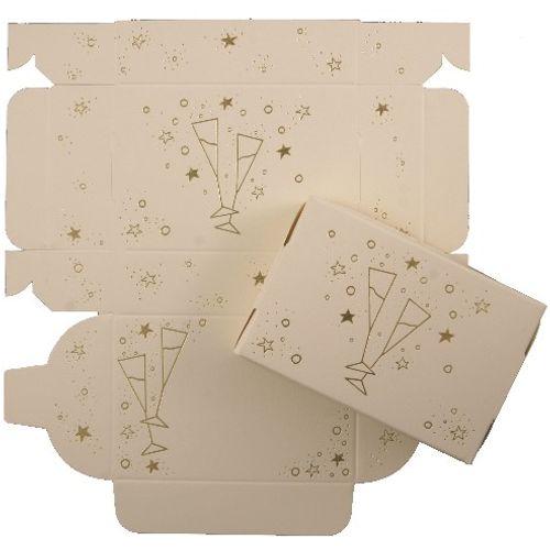 Cake Boxes -  Gold  Glasses Design pack of 8