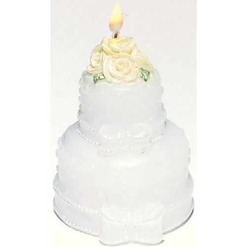 Large Wedding Cake Candles - Pack of 2