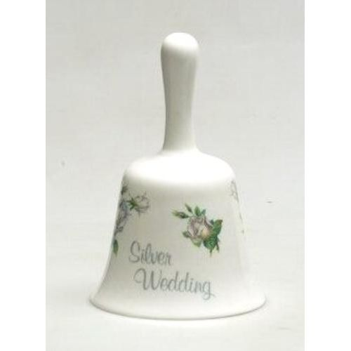 25th Silver Wedding Anniversary Gift China Bell