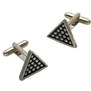 Snooker Triangle Pewter Cufflinks