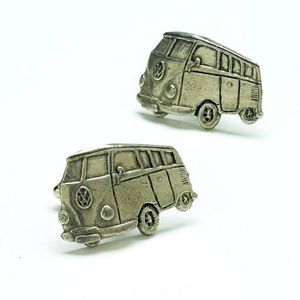 English Pewter Camper Van Cufflinks