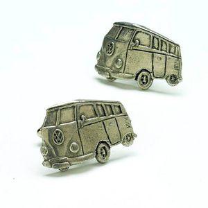 VW Camper Van Pewter Cufflinks