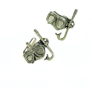 English Pewter Mask & Snorkel Cufflinks