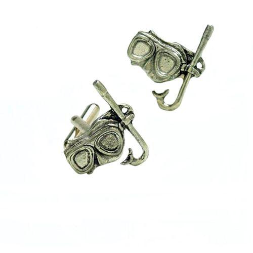 Mask & Snorkel English Pewter Cufflinks
