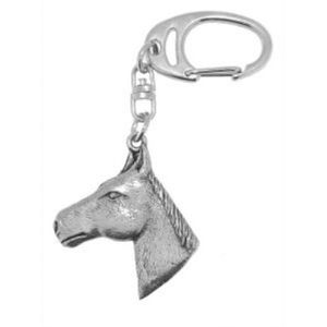 English Pewter Horse Head Keyring