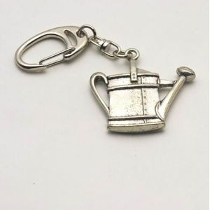 Watering Can Pewter Keyring