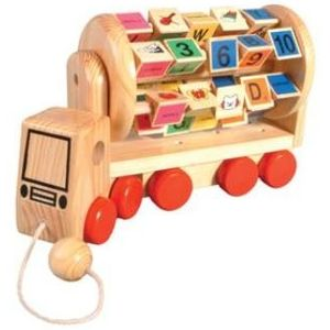 ABC Pull along Truck Wooden Toy