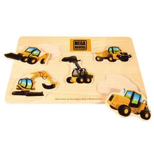 Mega Movers Lift Out Wooden Toy Puzzle