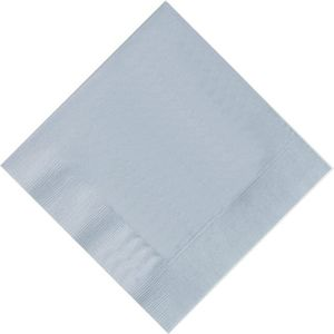 Pack of 20 Silver Napkins